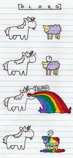 Oh, unicorn, you so silly! I wish I could puke rainbow. Real Unicorn, Unicorn And Glitter, Unicorn Art, Magical Unicorn, Rainbow Unicorn, Unicorn Puke, Unicorn Memes, Unicorns And Mermaids, Mythical Creatures