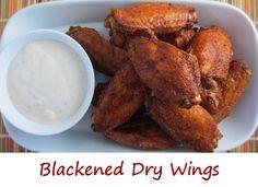 Blackened Dry Wings