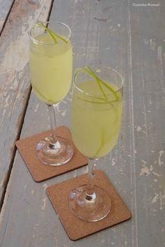 Limoncello + limão + vinho branco