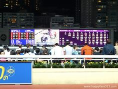 :-) action at Happy Valley Racecourt in Hong Kong :-)