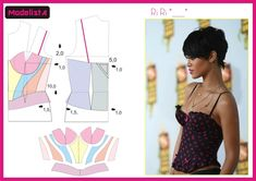 Inspiration for Bustier Sewing Patterns Free, Clothing Patterns, Dress Patterns, Techniques Couture, Sewing Techniques, Diy Clothing, Sewing Clothes, Fashion Sewing, Diy Fashion