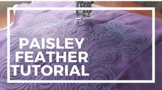 Who knew that quilting intricate looking feathers just required echoing! In this video tutorial, learn how to quilt the paisley feather on a sewing machine.