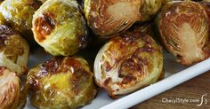 Yummy roasted Brussels sprouts with balsamic vinegar