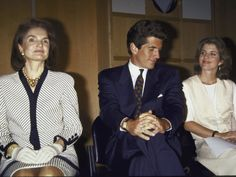 Jackie Kennedy Onassis, John F. Kennedy Jr. and Caroline
