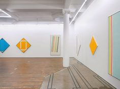 Ian Scott: Sprayed Stripes and New Lattices. Photo courtesy of Michael Lett Gallery.
