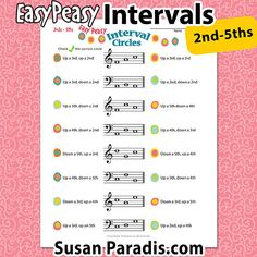 Easy Peasy intervals is a fun worksheet for students identify intervals of and that move up or down on the staff in groups of three. Piano Lessons, Music Lessons, Piano Games, Piano Music, Sheet Music, Music Theory For Beginners, Music Worksheets, Reading Music, Teaching Resources