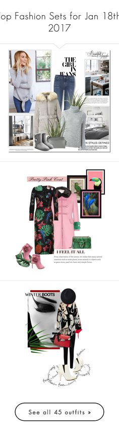 """Top Fashion Sets for Jan 18th, 2017"" by polyvore ❤ liked on Polyvore featuring 7 For All Mankind, Belle Vie, Miss Selfridge, Woolrich, UGG, WALL, Gucci, Valentino, Vetements and EAST"