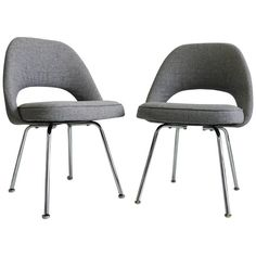 Saarinen Executive Armless Chairs | From a unique collection of antique and modern chairs at https://www.1stdibs.com/furniture/seating/chairs/