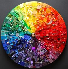 amazing color wheel ... Beautiful and creative mosaics by Laura Pattison