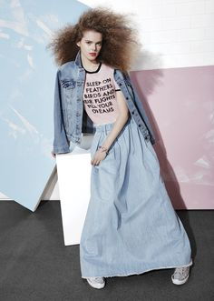 Eleni McMullin of Convey the Moment wears Each x Other Long Denim ...