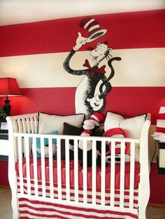 Cat in the Hat nursery! --- Cool idea for a children's reading room possibly at school.