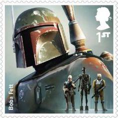 Imagen de la colección de sellos de Star Wars publicada por Royal Mail