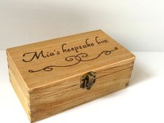 Personalised engraved wooden box  Wooden keepsake by MakeMemento