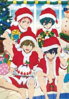 Merry Christmas with Free! Starting Days | Nanase Haruka - Shiina Asashi - Tachibana Makoto - Kirishima Ikuya