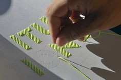 stitching letters on paper #DIY