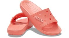 Original. Customizable. Comfortable.The ever-comfortable Classic II Slide gets the customization upgrade fans have been asking for in the Classic Crocs Slide: holes for Jibbitz™ charms! Each slide has room for 13 charms so you can load up your sandals with tons of personality. Original Croslite™ foam cushion will keep you comfortably supported from the beach to backyard gatherings and beyond. Choose your color and slide into a new favorite!  Classic Crocs Slide Details:    Incredibly light and f Crocs Slides, Hourglass Body Shape, Vegas Birthday, Diamond Face Shape, Crocs Classic, Classic Monsters, Women's Crocs, Unisex, New Kids