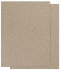 Brown Bag Paper - KRAFT - 8.5 x 11 - light-weight card stock paper