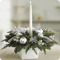 Centros de mesa con velas para Navidad