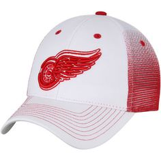 dd42f68005e8a Detroit Red Wings Zephyr Jolt Trucker Adjustable Snapback Hat - White Red