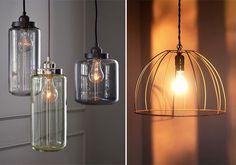 Industrial Lighting for the Home Industrial Light Fixtures, Industrial Pendant Lights, Industrial House, Pendant Lighting, Industrial Design, Urban Rustic, Globe Lights, Light Globes, Mason Jar Lamp