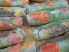 Vietnamese Salad Rolls (with peanut hoisin sauce) Go to the Park.   Cake Maker to the Stars--Vegan and Gluten-Free