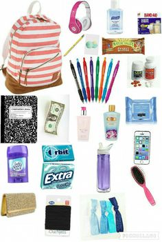 The post Girls School Survival Kit! appeared first on School Diy. School Emergency Kit, Emergency Kit For Girls, School Kit, School Purse, School Bags, School Stuff, Back To School Supplies For Teens, Cute School Supplies, High School Hacks