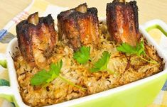 (1) New Message! Pork Rib Recipes, Spare Ribs, Sauerkraut, Tandoori Chicken, Baked Potato, Slow Cooker, Oven, Turkey, Potatoes