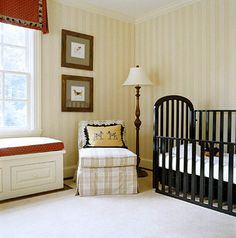 If you're worried your son will grow out of his boy-themed room too quickly, just let it go to the dogs--décor-wise, that is. Dog-patterned fabric used on the window seats inspired the color scheme; it's young yet sophisticated, thus ensuring it won't seem too juvenile when he's older.