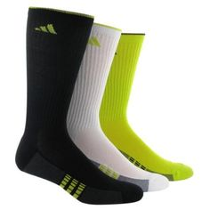 adidas Men's Superlite Tip Crew Sock, Pack of 3 (Black/Graphite/Cobalt/White, Men's Shoe Size 6-12) by adidas. $16.32. ClimaCool, adidas' 360 degree ventilation technology, keeps your feet cool and dry in these performance socks. An odor resistant treatment reduces odor causing bacteria. Half cushioned on ball, heel and toe for added durability and comfort.