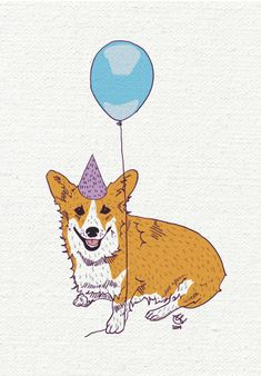 Say, happy birthday! with this happy corgi! Do you have a message you would like printed inside? Just include what you would like said inside the