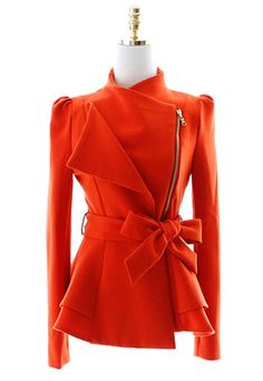 $55.99 [grzxy6600534]European Style Elegant Lapel Bowknot Blazer Coat | cheershop - Clothing on ArtFire