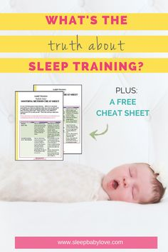 Is Sleep Training your baby the answer to fix short naps and multiple times at night?  Why does SLEEP TRAINING your baby get such a bad wrap?  You're so exhausted but not sure what to do! Click here to see the ultimate guide about sleep training and download your FREE cheat sheet too!