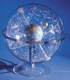 The Transparent Celestial Star Globe is mounted in a full horizon and meridian…
