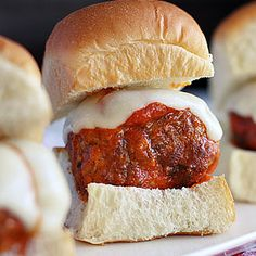 Meatball Sliders, great party fare