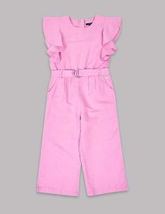 f46297c26f3d Frill Sleeve Jumpsuit with Belt (3-16 Years)  parents Product easier