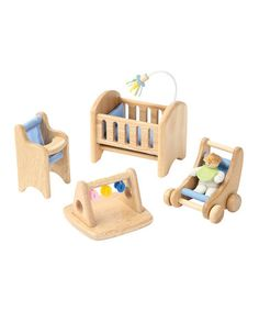 Another great find on #zulily! Baby's Room Wooden Play Set #zulilyfinds