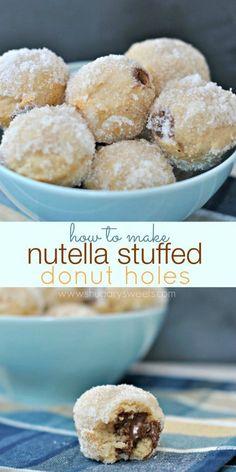 Nutella Stuffed Donut Holes