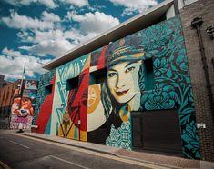 Shepard Fairey in London, 2019 Shepard Fairy, Art World, All Art, Wall Murals, Graffiti, I Am Awesome, Clouds, London, Gallery