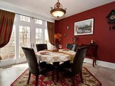 The kitchen eating area of a Bayport NY home we staged. Photo by Jump Visual