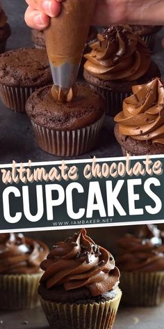 Cupcake Frosting Recipes, Cupcake Recipes From Scratch, Cupcake Cakes, Cupcake Recipe For Kids, Homemade Cupcake Recipes, Fun Cupcakes, Chocolate Cupcakes Decoration, Best Chocolate Cupcakes, Ultimate Chocolate Cupcake Recipe