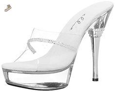 Ellie Shoes Women's 678 Jesse Platform Sandal, Clear, 7 M US - Ellie shoes pumps for women (*Amazon Partner-Link)