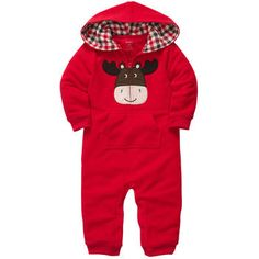 1-Piece Microfleece Jumpsuit Carters Moose. Totally got this for my lil mountain boy!!