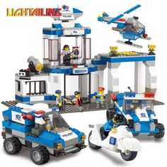 47.39$  Watch now - http://aieqr.worlditems.win/all/product.php?id=32800967867 - Big Size Original Sluban Urban SWAT Emergency Center City Series Building Block Set Construction Brick Toys
