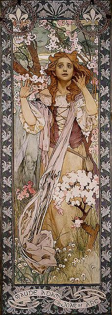 I am not afraid, I was born to do this. Mucha 1905 Joan of Arc