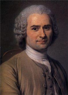 """""""La igualdad de la riqueza debe consistir en que ningún ciudadano sea tan opulento que pueda comprar a otro y ninguno tan pobre que vea la necesidad de venderse"""".     -Jean Jacques Rousseau - by artist Maurice Quentin de La Tour (1704 – 17 February 1788)"""