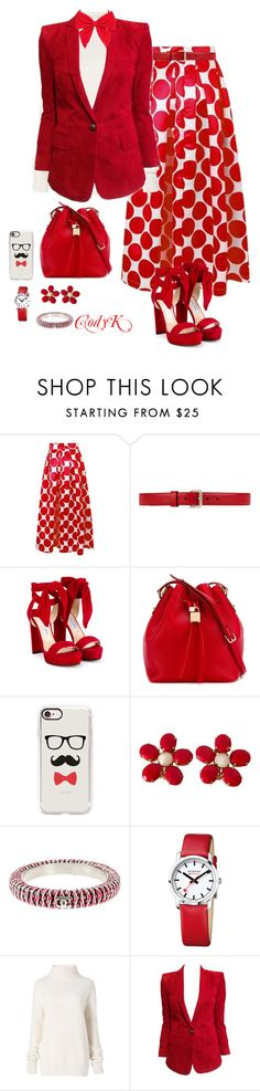 """""""Red, White Bows"""" by cody-k ❤ liked on Polyvore featuring Gucci, Jimmy Choo, Dolce&Gabbana, Casetify, Schreiner, Chanel, Diane Von Furstenberg, Balmain and Carole"""