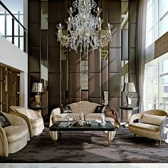 Luxury Living: Stardust Collection www.it Italian luxury living room furniture Italian Living Room, Classic Living Room, Elegant Living Room, Modern Living, Contemporary Living Room Furniture, Living Room Interior, Luxury Furniture, Modern Furniture, Antique Furniture
