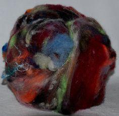 125g Art fiber fibre spinning felting batts hand by YummyYarnsUK, £12.99