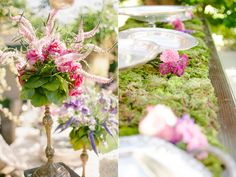 Western Paso Robles Wedding - moss tablecloth - genius!