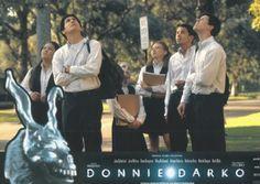 BROTHERTEDD.COM - Donnie Darko lobby cards Donnie Darko, Cards, Movies, Movie Posters, Films, Film Poster, Cinema, Maps, Movie